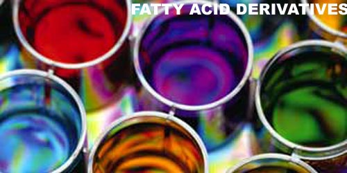 Fatty amides used in printing inks.