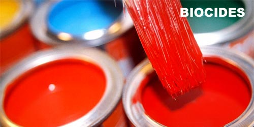 Biocides used in paints, coatings, resin & pigment industries
